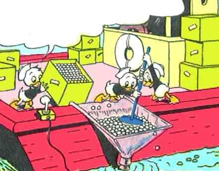 Donald Duck Sunken Yacht