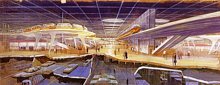 Epcot Concept Art Domed City