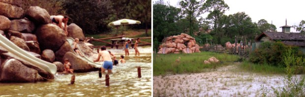 River Country Kiddie Cove Before and Afer