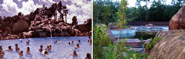 River Country Pool Before and After