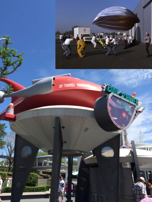 Spaceship from Flight of the Navigator at Magic Kingdom