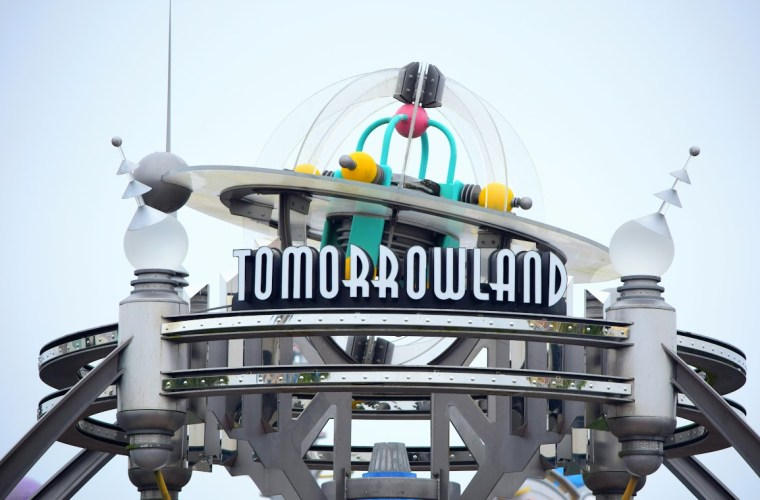 Tomorrowland Sign at Magic Kingdom