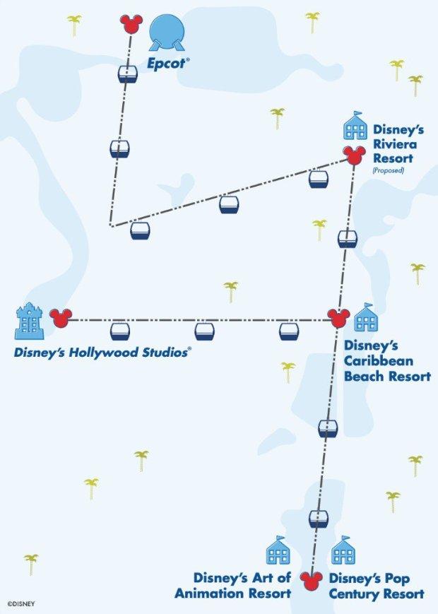 Disney Skyliner Review Map