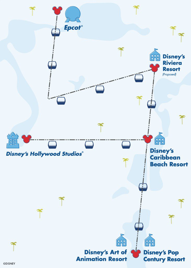 Disney Skyliner Review Map