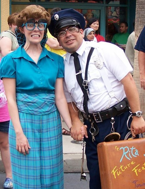 Rita Storey and Officer Duncan Donut Disney