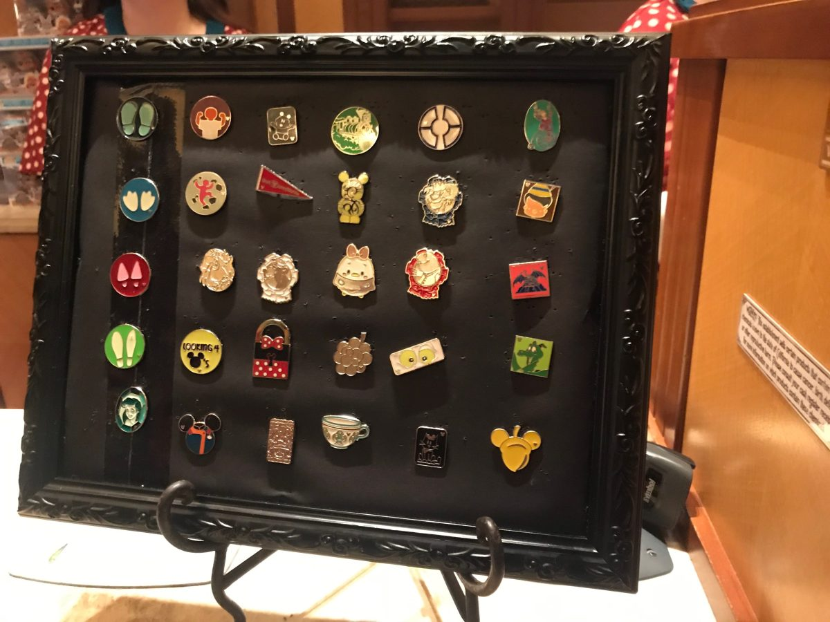 Pin Board in a frame at California Adventure