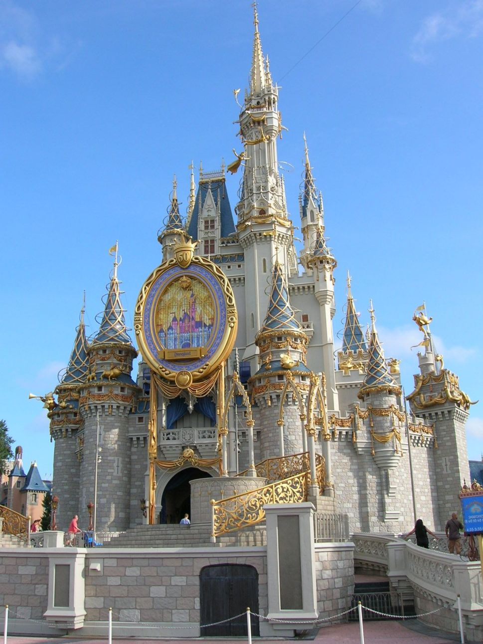 Magic Kingdom Gold Castle renovation 2020