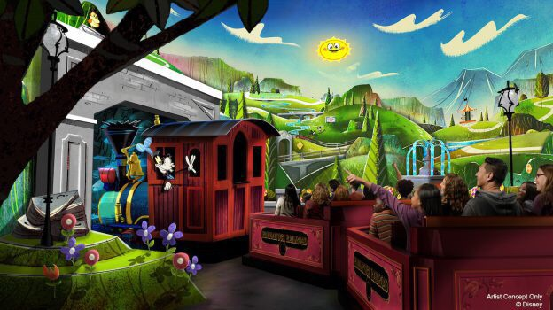 """Featured image for """"What time do you need to be at the park to rope drop Mickey and Minnie's Runaway Railroad?"""""""