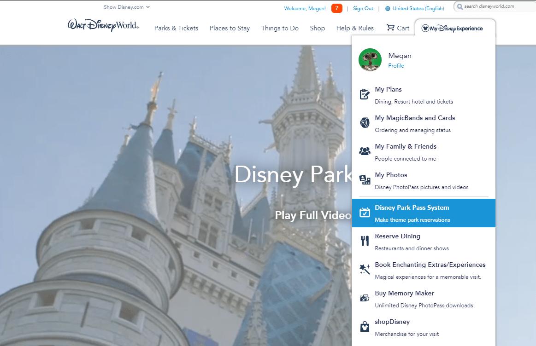 when should I book a park pass at disney?