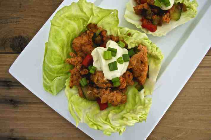 Spicy Chicken Sausage Cabbage Wraps