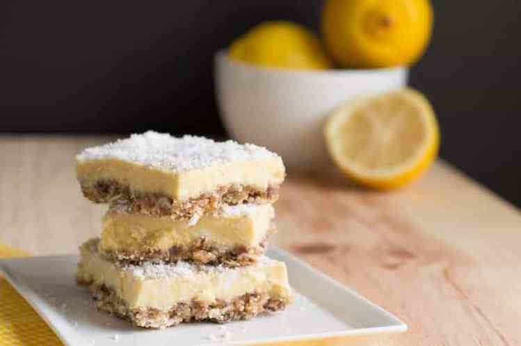 Best Paleo Lemon bars. Easy vegan recipe. Paleo diet breakfast ideas. Easy Gluten Free breakfast food. Healthy vegan recipe.