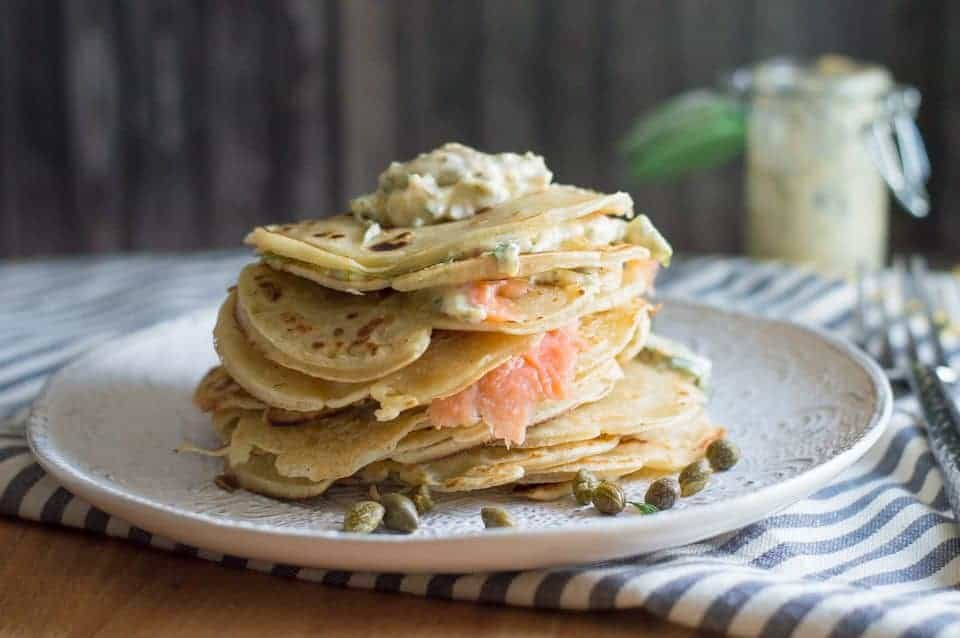 The Movement Menu - Smoked Salmon Crepes