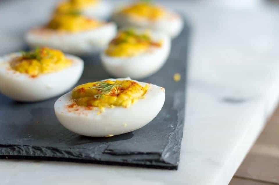 The Movement Menu - Deviled Duck Eggs