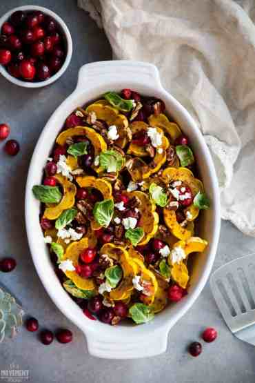 This Paleo Squash Bake is the perfect accompaniment to your weekly meal plan or for Thanksgiving or Christmas. The cranberries and pecans are the perfect addition... so fresh and delicious!