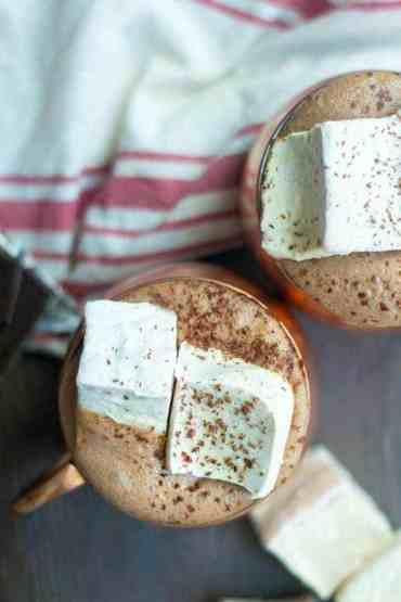 Peppermint Marshmallows and Hot Chocolate