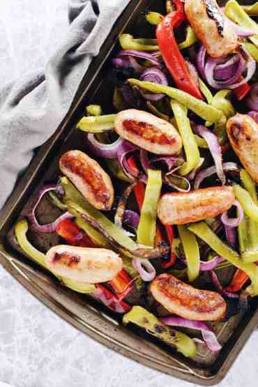 One-Pan-Italian-Sausage-with-Onions-and-Peppers