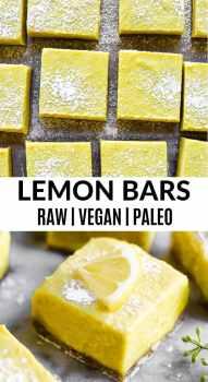 Overhead shot of paleo lemon bars