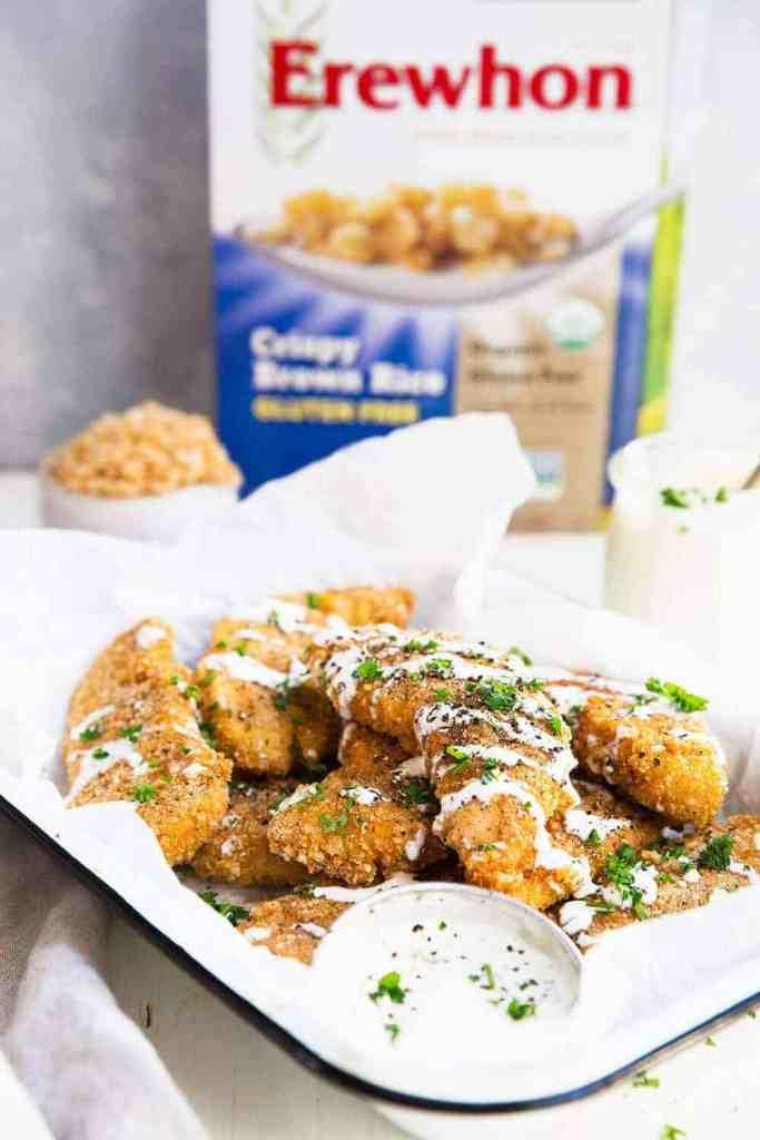 Easy baked gluten free chicken strips