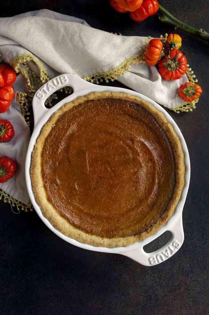 A Gluten Free Vegan Pumpkin Pie recipe