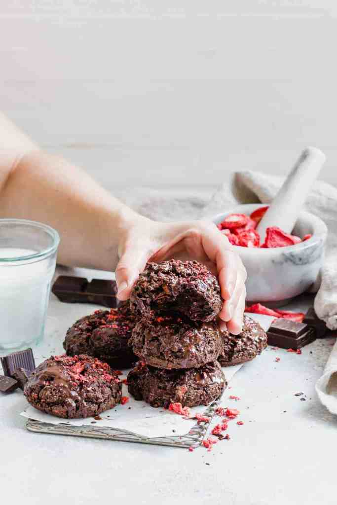 Double Chocolate Paleo Brookie