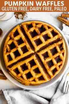 pumpkin waffles on a plate