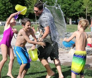 Moving to a warmer climate will allow you water fights with your kids.