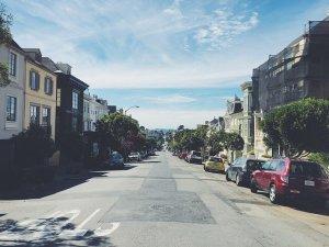 Residential street in LA