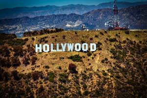 Hollywood sign in Los Angeles.