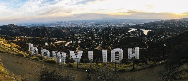 Hollywood sign overlooking LA