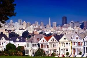 Beautiful houses in San Francisco.