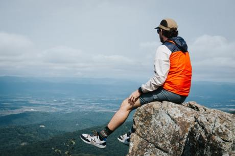 a man enjoying the view in Virginia