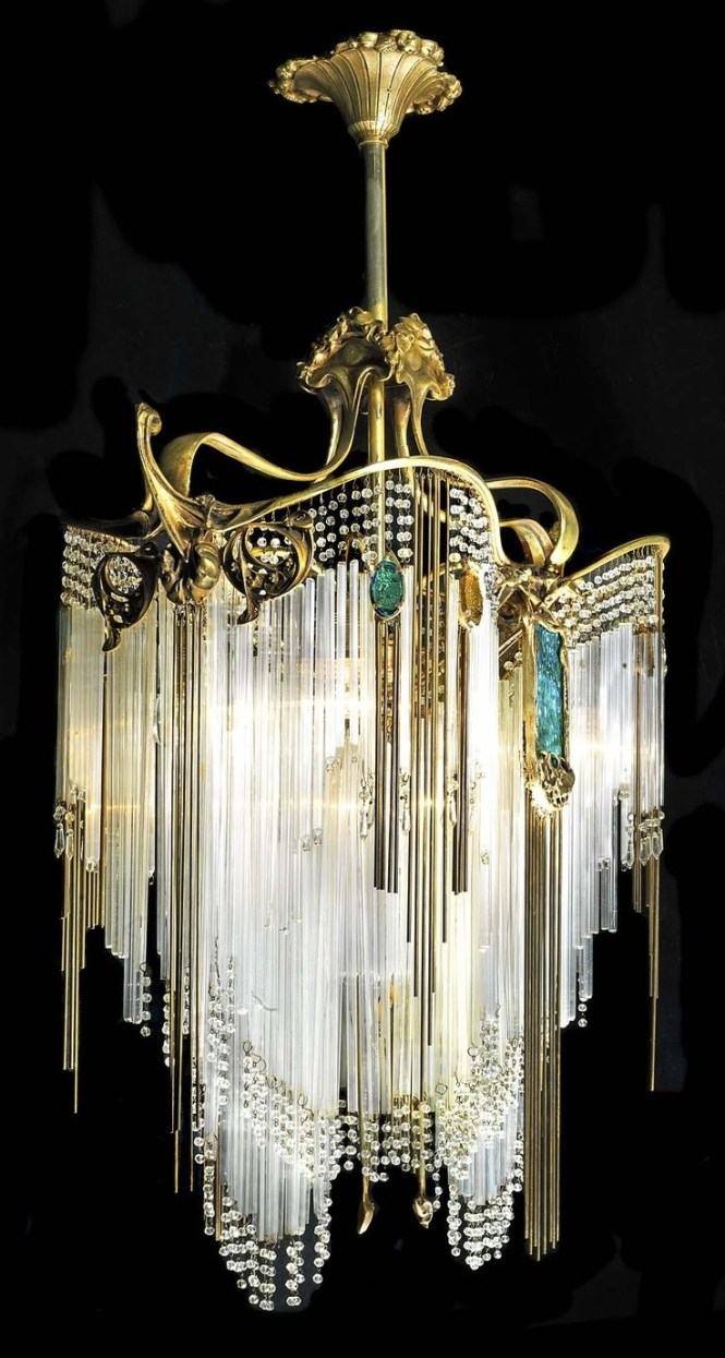 155 Best Images About Vintage Chandeliers And Lamps On Pinterest Throughout Large Art Deco Chandelier