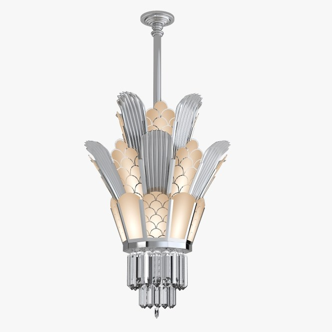 22 Beautiful Art Deco Chandelier Graphicdesignsco With Regard To Large 2