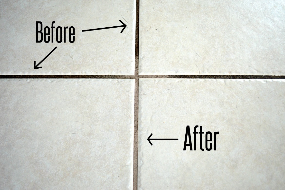 to clean dirty tile grout before