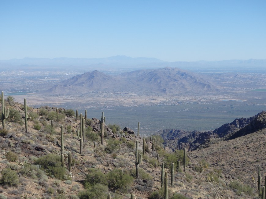 The South Mountains above Phoenix.