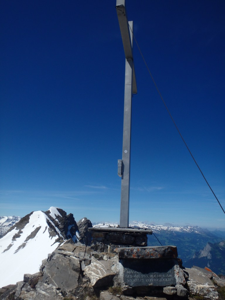 Summit with large summit cross.