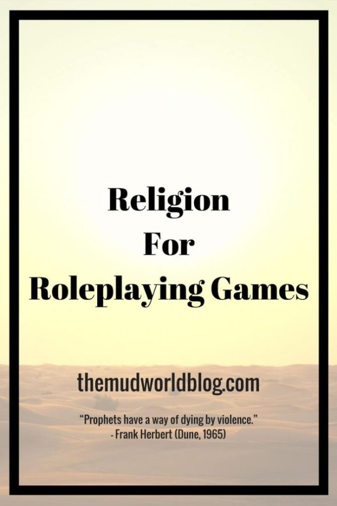 How to Include Religion in Roleplaying Games