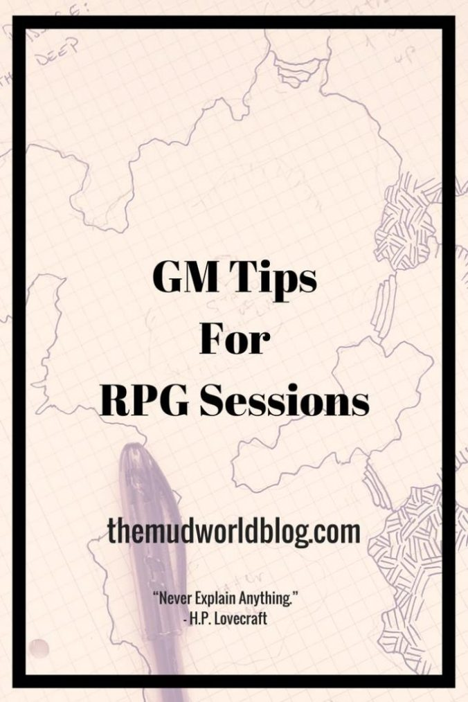 How to run a RPG game session
