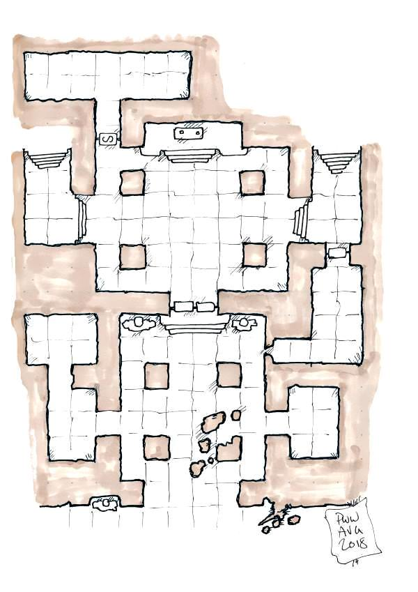 The Lost Crypt of the Burning Vizier Level 1