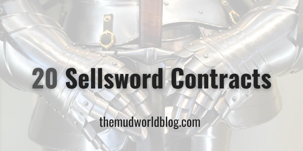 Twenty Sellsword Contracts for Fantasy Roleplaying Games