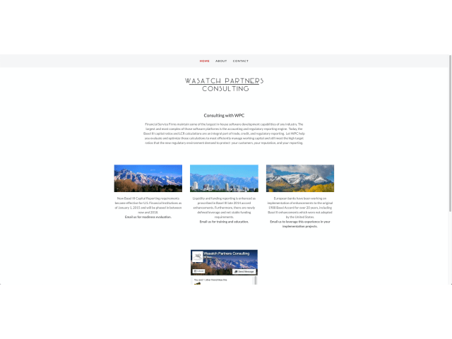 Website home page before content and visual design refresh