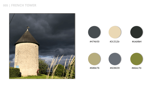 French Tower is the title of this contrasting earthy color palette.