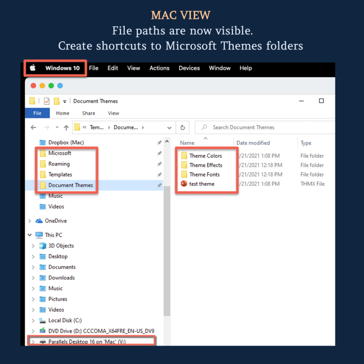 Mac view: Microsoft File paths are now visible