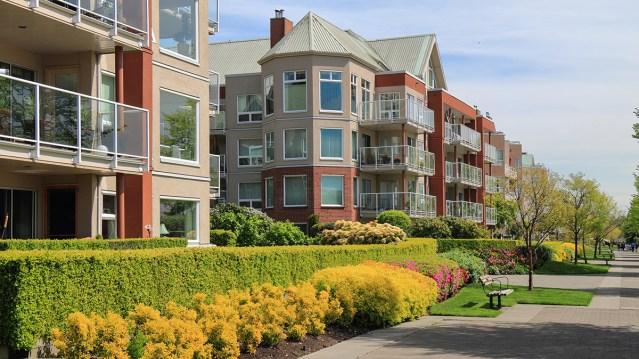 Suburban multifamily community