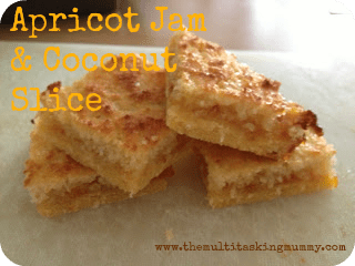 jam and coconut slice