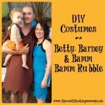 DIY Barney, Betty & Bamm Bamm Rubble Costumes #MummyMondays