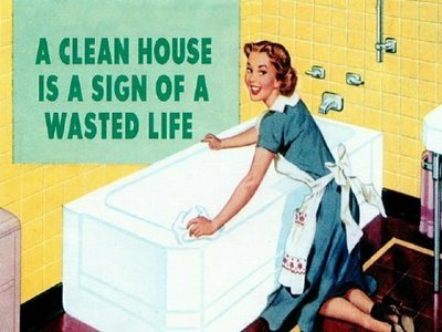 clean house sign of wasted life