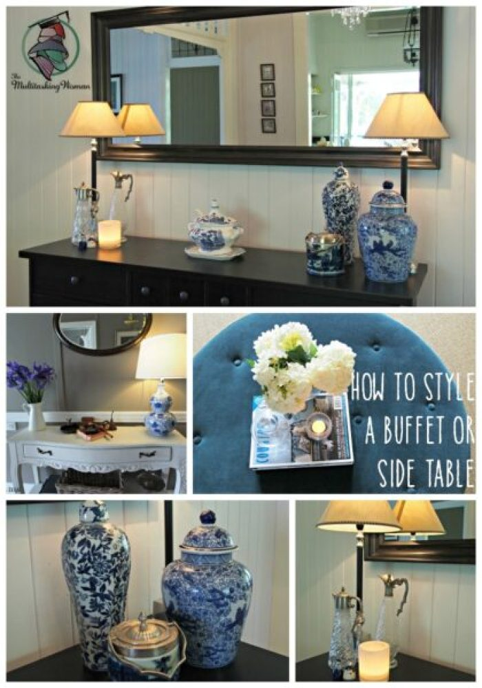 how to style a buffet or side table