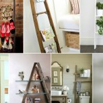 10 Ways to Style A Wooden Ladder