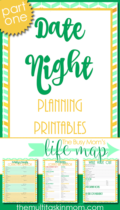 Date Night Planning Printables - The Multi Taskin' Mom